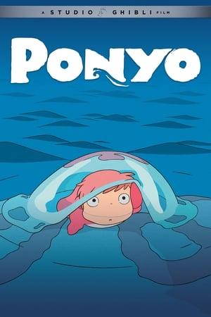 Ponyo a tengerparti sziklán poszter