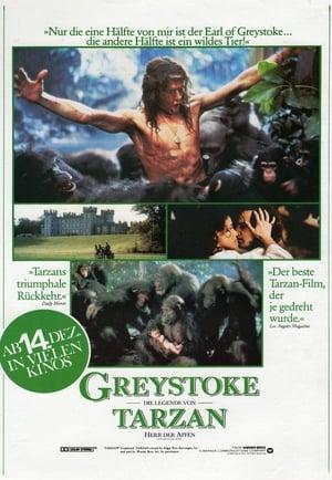 Greystoke: Tarzan, a majmok ura poszter