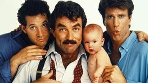 Három férfi és egy bébi háttérkép