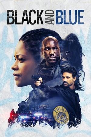 Fekete és kék poszter